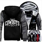 Winter Thicken Hoodie Team Dallas Cowboys Warm Sweatshirt Lacer Zipper Jacket on eBay