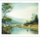 "GEORGE HARVEY ""View of the Erie Canal"" CANVAS OR PAPER 3 sizes available"