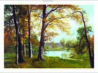 "ALBERT BIERSTADT ""A Quiet Lake"" landscape CANVAS choose SIZE, from 55cm up, NEW"