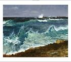 "ALBERT BIERSTADT ""Seascape"" waves new CANVAS OR PAPER 3 sizes available, NEW"