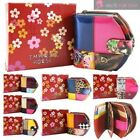 LADIES REAL LEATHER SHINY PATENT NEW MULTICOLOUR PATTERNED WALLET PURSE