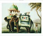 "COMPANY SCHOOL ""Elephants With Their Mahout"" ON CANVAS OR PAPER various SIZES"