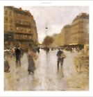 "LUIGI LOIR ""Parisian Street Scene"" CANVAS OR PAPER choose SIZE, from 55cm up"