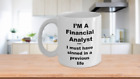 Financial Analyst Coffee Mug –Securities Research Equity Investment Analyst Gift