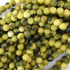 """Faceted Yellow Turquoise Round Beads Gemstone 15"""" Strand 4mm 6mm 8mm 10mm 12mm"""
