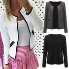 Ladies Smart Fitted Blazer Womens Stylish Suit Coat Jacket Casual Office Tops