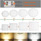 6W 8W 15W 20W Recessed Free Hole Cut-out LED Ceiling Down Light Panel Lamp Light