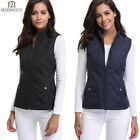 Women Zip Up Lightweight Quilted Padded Vest Gilets Packable Puffer Jacket Vest