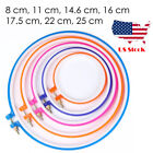 "Embroidery Loop hoop Circle Round Frame colorful 8-25cm, 3""-9.8"""