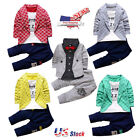 Kids Baby Boys Gentleman Shirt Tops+Long Pants Formal Party Clothes Wedding Set
