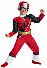 Red Ranger N Steel Muscle Child Costume Red & Black Muscle Torso Jumpsuit