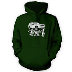 4x4 XJ Hoodie -x12 Colours- Gift Present Off Road Green Lane American Tow