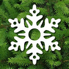 WHITE OR CLEAR PLASTIC SNOWFLAKE XMAS CHRISTMAS DECORATION TREE ORNAMENT HANGER