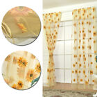 Living room tulle unripened Sunflower curtains transparent decoration Sheer blue