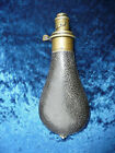 19th CENTURY ' HAWKSLEY ' POWDER FLASK - QUALITY 18 cm tall apox GREAT CONDITION