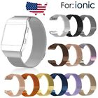 10 Colors Stainless Steel Replacement Spare Band Strap for Fitbit Ionic S L size