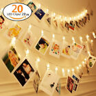 picture hanging clip - 3M 20 LED Photo Peg Clip LED Fairy String Light Wedding Hanging Picture Decor