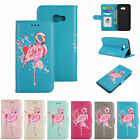 Flamingo Pattern PU Leather Wallet Flip Folio Case Cover for Samsung A5 A3 2017