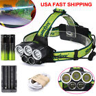 50000LM LED Headlight Headlamp T6 5xBright white Blue Light Charger+18650BTYD