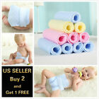 10 Pack 3 Layer Prefold Reusable Eco-Cotton Cloth Baby Infant Diaper WASHABLE