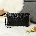 New Ladies Chain Evening Purse Handbag Sequins Shoulder Bag Clutch Shiny