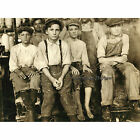 Boys Working in a Cotton Mill at West, Texas in 1913 by Lewis Hine Photo Print 1