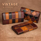 Augus Womens Organizer Leather Large Capacity Handmade Cluth Wallets