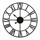 LIVIVO TRADITIONAL VINTAGE STYLE IRON WALL CLOCK ROMAN NUMERAL HOME DECOR 40/60