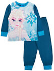 Girls Disney Frozen Pyjamas Kids Elsa Anna Character Pjs 2 Piece Long Set Size