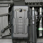 For Samsung Galaxy On5 G550 Armor Shockproof Rubber Hybrid Holster Case Cover