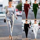 USA Women 2pcs Tracksuit Sweats Sweatshirt Pants Sets Sport Wear Casual Suit