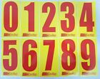 2 x Red numbers on Yellow background -Iame-X30 Rotax Cadet Karting Race Numbers