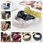 Women Girls Sweet Bowknot Wide Hairband Headband Solid Fashion Hair Accessories