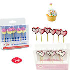 Cake Candles HEART Topper Cupcake Birthday Party Blowing Decoration Love Baking