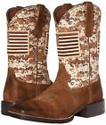 Ariat Men's Sport Patriot Western Cowboy Boot, Digital Camo W/ American Flag