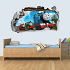 Thomas The Tank Engine 3D Smashed Wall Art Decal Vinyl Sticker Boys Girls Bedro