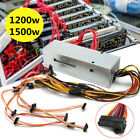 1200/1500W 6GPU 24Pin Mining Power Supply For ETH Rig Ethereum BTC Coin Miner