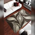 Modern Brown Small Hand Carved Quality Thick Floor Carpet Runner Rug
