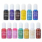 13 Color Pearly-lustre Pigment Epoxy Resin Coloring Dye Colorant DIY 15g/Bottle