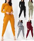 Women Frill Top & Jogger Lounge Suit Tracksuit Frill Bottom Trouser Xmas Gift