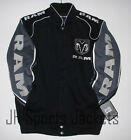 Authentic Dodge Ram Truck Embroidered Cotton Jacket JH Design Black NEW