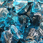 Glasbrocken hellblau Glass Rocks ocean blue 40/80mm 5 kg bis 100 kg