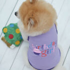 Pet Dog Clothes Birthday Gift Cake Costume Vest Puppy Cat T-Shirt Summer Apparel