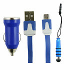 Trio Pack (Micro USB, Car Charger, Mini Stylus) for Xgody D11 5.5 Inch Smartphon