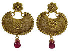 Ethnic Goldtone Traditional Indian Women Party Drop Dangle Earring Set Jewelry