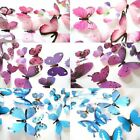 New Qualified Wall Stickers 12pcs Decal Wall Stickers Home Decorations 3d Butter