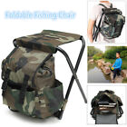 Foldable Fishing Chair Stool Travel Camping Hiking Multi-Function W/ Bag Outdoor