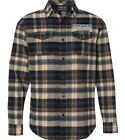 Throttle Threads Parts Unlimited Mens Flannel Shirts Kahki Plaid
