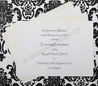 Personalised Evening Wedding / Birthday A6 Invitations on Pearlised Card etc.