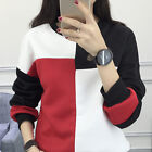 Korean Winter Spell Color Blouse Casual Warm Sweater Loose Shirt Top Size M -XXL